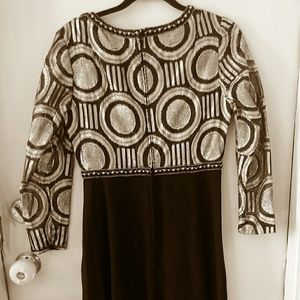 70s Metallic/Black Dress